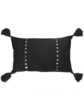 Cushion METAL SEQUIN black