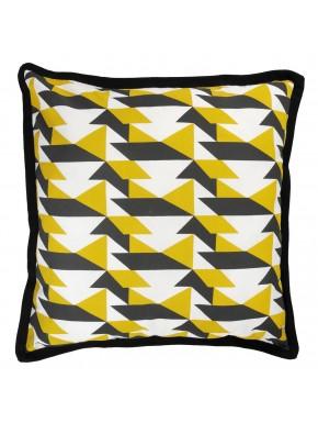 Cushion PIED DE POULE Mustard
