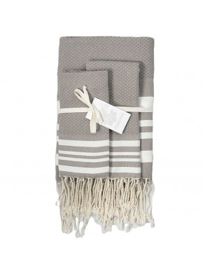 Fouta Honeycomb - Medium Grey