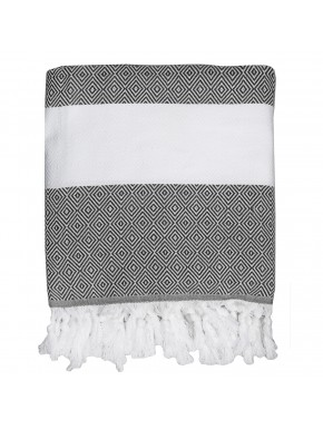 Fouta diamond Courchevel - Pearl Grey