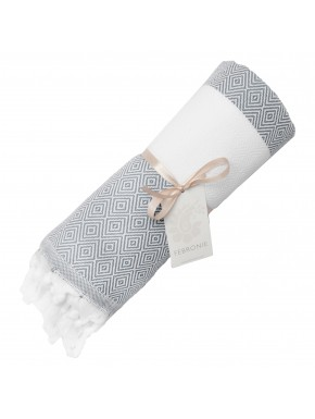 Fouta diamond Courchevel - Pearl Grey