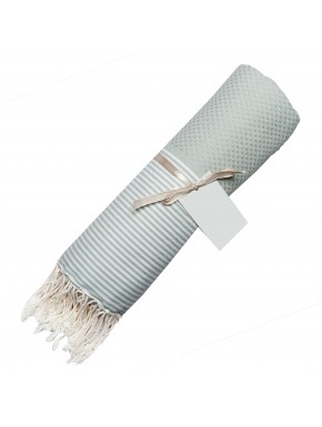 Fouta Honeycomb - Pearl Grey