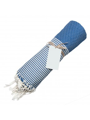 Fouta Honeycomb - Greek Blue