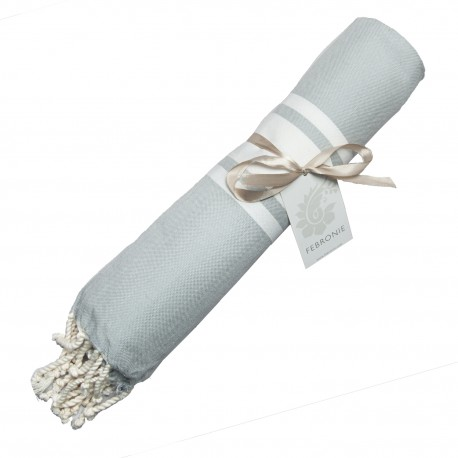 Fouta Traditionnelle - Gris Perle